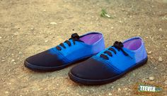 Black Canvas Shoes Design: Gradient Purple/Blue