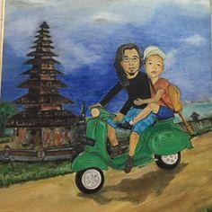 In Bali   Canvas 45 x 60  Oil Paint  By : Jaz Blues