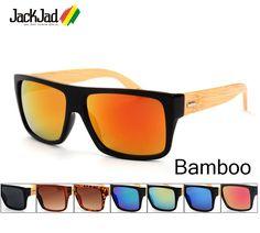 0b6eeeabc88 JackJad New Fashion 2017 Bamboo Wood Sunglasses Men Women Wooden Brand  Designer Sun Glasses Oculos De Sol Masculino WPB1033-in Sunglasses from  Men s ...