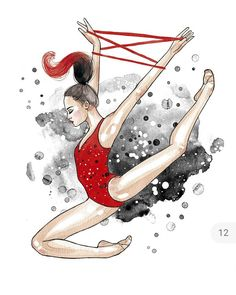 New dancing drawings creative Ideas Ballet Drawings, Dancing Drawings, Cool Art Drawings, Gymnastics Skills, Rhythmic Gymnastics, Gymnastics Wallpaper, Watercolor Paintings Of Animals, Yoga Illustration, Hippie Painting