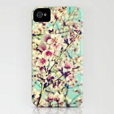 Nectarine Blossoms iPhone Case by Around the Island (Robin Epstein)