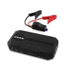 SNAN Auto Starthilfe 400A Spitzenstrom 12000mAh Batterie Ladegerät Tragbare Externer Akku mit 4.8A Dual USB Anschluss, LED Taschenlampe Schwarz - http://autowerkzeugekaufen.de/snan/snan-auto-starthilfe-400a-spitzenstrom-12000mah