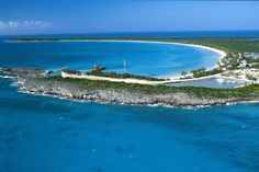(PHOTO: Holland America Line) Beautiful places you can only visit on a cruise:  Half Moon Cay, Bahamas  Holland America Line has its own private island in the Bahamas, with many of its Caribbean itineraries stopping at beautiful Half Moon Cay. The 1700-acre island, with only two per cent developed, features a huge interior lagoon and a two-mile crescent of perfect beach. It also has luxury beach cabanas for rent, as well as water sports centres with kayaks, aqua-cycles, floating foam mats...