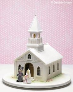 Dream Wedding Cakes by Debbie Brown confections-cool-cakes Pretty Cakes, Beautiful Cakes, Amazing Cakes, Building Cake, Debbie Brown, Holy Communion Cakes, Dad Cake, Fantasy Cake, House Cake