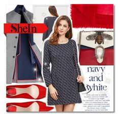 """""""shein"""" by konstadinagee ❤ liked on Polyvore featuring Hilfiger, Gucci and Faliero Sarti"""
