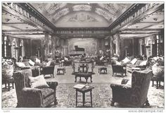 """intérieur Paquebot SS """"Empress of Britain"""" Canadian Pacific Company line - 1920 meubles Mayfair by Sir Charles ALLOM"""