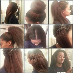 All ME — Sooo here it is… My crochet braids - Coiffures filles Pelo Natural, Natural Hair Tips, Natural Hair Styles, Natural Braids, Straight Hairstyles, Girl Hairstyles, Braided Hairstyles, Crochet Weave Hairstyles, Updo Hairstyle