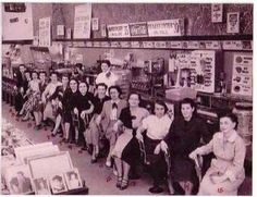 Woolworth's lunch bar 50's