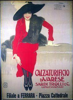๑ Nineteen Fourteen ๑ historical happenings, fashion, art & style from a century ago - Leopoldo Metlicovitz 1914
