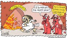 Keyifli Adam Karikatürü Ayrıkan Karikatürleri