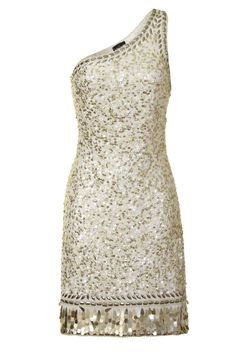 Glitz and glam your way to the top with this beautiful sequined dress. The one shoulder classic is perfect for that sophisticated event. It is heavily embellished throughout and has teardrop-like sequins. This stunning dress comes in a beautiful ivory/gold colour, which we have seen a lot of on the SS13 catwalks. http://www.frockandfrill.com/index.php/occasion-shop/ivory-and-gold-one-shoulder-dress.html