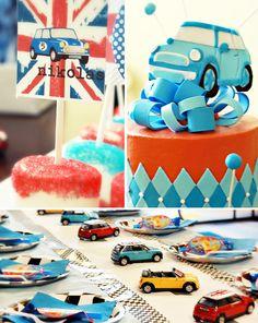 Mini Cooper British Invasion Birthday Party --- love it