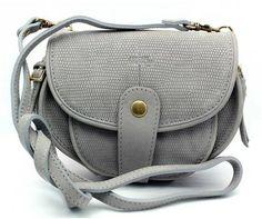"Jerome Dreyfuss ""Momo"" Grey Pebbled Leather Cross-Body Bag"