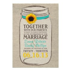 ==> consumer reviews Rustic Sunflower & Mason Jar Wedding Invitation Rustic Sunflower & Mason Jar Wedding Invitation We have the best promotion for you and if you are interested in the related item or need more information reviews from the x customer who are own of t...Cleck Hot Deals >>> http://www.zazzle.com/rustic_sunflower_mason_jar_wedding_invitation-161769868284059426?rf=238627982471231924&zbar=1&tc=terrest