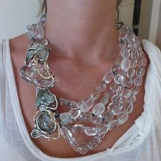 NWT Alexis Bittar Jardin Mystere Clear Crystal Doublet Draped Necklace $795 - http://designerjewelrygalleria.com/alexis-bittar/nwt-alexis-bittar-jardin-mystere-clear-crystal-doublet-draped-necklace-795/