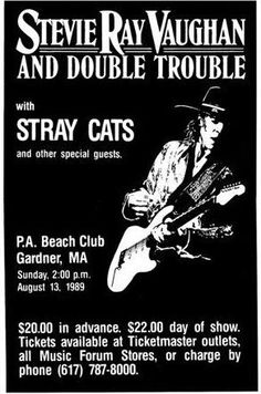Stevie Ray Vaughn With The Stray Cats LIVE 11x17 Rare Very Limited Concert Poster Print Only One on Amazon by Music Wallz, http://www.amazon.com/dp/B007QWKIJ8/ref=cm_sw_r_pi_dp_6zrQrb0ASRJCH