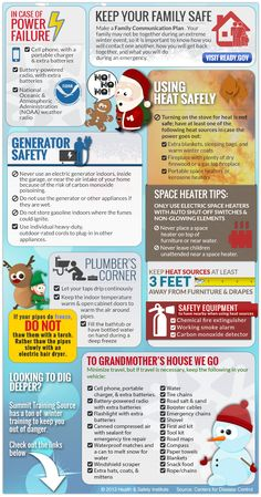 Caught in a storm? Keep safe this winter! Safety Infographic