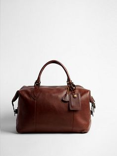 2012.05.20. Chocolate leather weekend bag from Barbour.