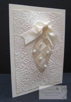 Vanilla Ribbon Ornament Keepsakes by jaydee - Cards and Paper Crafts at Splitcoaststampers