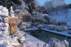 Hanham Court - pool in Winter