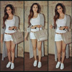 Actress Kiara Advani at Bajrangi Bhaijaan movie screening last night. . She made her debut last year with movie Fugly, and is very close to Salman Khan's family. . Love what she's wearing? . @instabollywood .