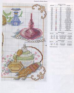 0 point de croix collection parfums - cross stitch perfume bottles collection 2