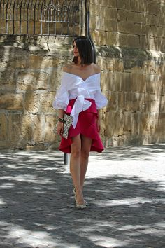 Casual Dresses, Fashion Dresses, Dresses For Work, Mix Style, Fashion Now, Shirt Skirt, Blouse Styles, Classy Outfits, Dress Up