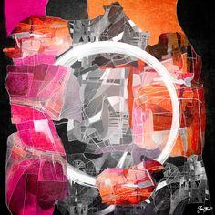 Abstract and mixed media art by gina Startup