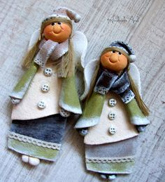 Polymer Clay People, Polymer Clay Cake, Fimo Clay, Polymer Clay Crafts, Ceramic Clay, Salt Dough Crafts, Salt Dough Ornaments, Christmas Angels, Christmas Crafts
