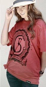 Barnabas Clothing Co. Emblem Tee in Vintage Red.  Available at www.BarnbasClothing.com