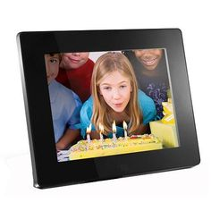 Aluratek ADMPF108F 8inch HiRes Digital Photo Frame With 512MB Built in Memory Black * You can get additional details at the image link. (Note:Amazon affiliate link) #DigitalPictureFrames