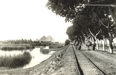 1922-1924   Giza - Main road to the pyramids ~ PHOTO GALLERY: From the library of Lehnert and Landrock - Multimedia - Ahram Online