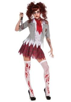 Rubies Costume Zombie School Girl Adult Costume Tag a friend who can pull this off! #Zombie #Halloween #Costume