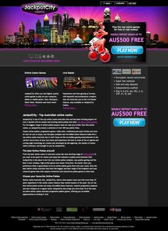 Online Casino PSD Template [Free Download] #casino #PSD | Web ...