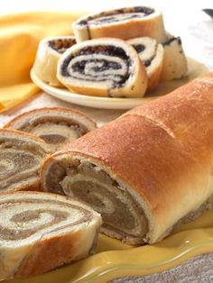 Traditional nut rolls and poppy seed rolls taste like homemade. Nut rolls contain English walnuts. Poppyseed rolls are made with special poppyseed butter. Slovak Recipes, Ukrainian Recipes, Czech Recipes, Hungarian Recipes, Gourmet Recipes, Dessert Recipes, Cooking Recipes, Desserts, Polish Recipes
