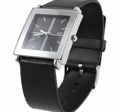Sourcingmap Black Faux Leather Band Silver Tone Rectangle Dial Wrist Watch for Lady <ul><li>This Wrist Watch is rectangle dial quartz watch design.</li><li>With a side knob for time adjusting easily: just pull out it a little slightly and then turn it.</li http://www.comparestoreprices.co.uk/ladies-watches/sourcingmap-black-faux-leather-band-silver-tone-rectangle-dial-wrist-watch-for-lady.asp