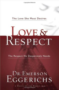 Love And Respect by Dr. Emerson Eggerichs is a phenomenal marriage tool that should be in the hands of every husband and wife. This book has drastically changed my approach to marriage, especially helping my husband and I understand each other and our responses a bit better. ?