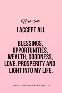 Daily Affirmations for abundance next level empowerment empowered women strong strength positivity growth self love goals success mindset think good things happy joy achievement quote mantra affirmation inspirational motivational fearless Positive Affirmations Quotes, Wealth Affirmations, Morning Affirmations, Law Of Attraction Affirmations, Affirmation Quotes, Forgiveness Quotes, Law Of Attraction Quotes, Mantra, Beau Message