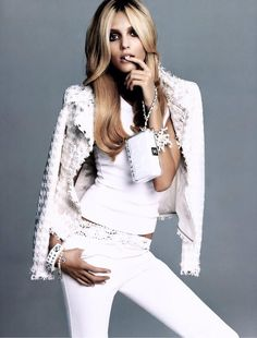 Total white look , Chanel . ...
