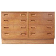 Scandinavian Eight Drawer Chest on Chairish.com