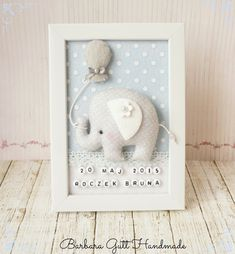 Barbara Handmade...: Słonik dla Bruna / Elephant for Bruno #cuadro #quadro