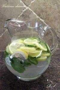 Domácí detoxikační nápoj Lemonade Cocktail, Nordic Interior, Detox Drinks, Mojito, Frappe, Smoothies, Food And Drink, Health Fitness, Lose Weight