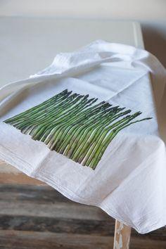 Asparagus Kitchen Towel by RedBirdsHouse on Etsy