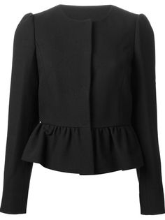 Shop women's designer bolero jackets online now at Farfetch. Find stylish cropped jackets from top brand names at elite boutiques Classy Winter Outfits, Stylish Outfits, Hijab Fashion, Fashion Dresses, December Outfits, Capsule Outfits, Blazers, International Fashion, Mode Style