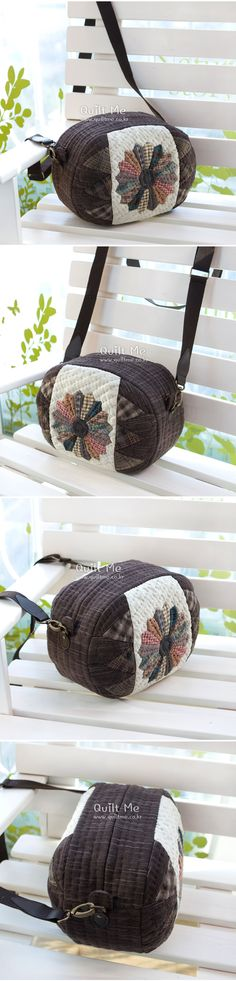[다크브라운 드레스덴 크로스백 (3/23일 부터 발송됨)] Japanese Patchwork, Japanese Bag, Quilted Handbags, Quilted Bag, Patchwork Designs, Patchwork Bags, Applique Quilts, Handmade Bags, Clutch Bag