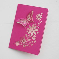 Butterfly laser cut card..