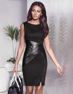 Michelle Keegan Panel Textured Shift Dress - Lipsy love Michelle Keegan Autumn Collection