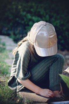 Girls Hat! #chasinivy Autumn Forest, Girl With Hat, Girls Accessories, Beautiful Babies, Riding Helmets, Girl Fashion, Hats, Cottage, Green