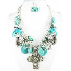 I love this necklace with magnetic pendant that you can take off and wear with other necklaces. $20