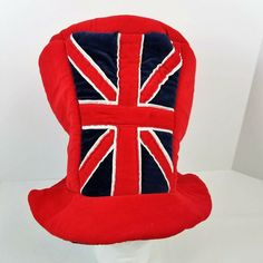 Union Jack Top Hat UK British Flag Mad Hatter Red Velvet Puffy Topper English #Unknown #TopHat English Clothes, Hats For Sale, Union Jack, Red Velvet, Mad, British, History, Historia
